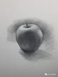 逆光苹果的画法