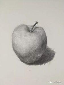 素描苹果的画法